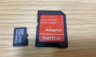 Transcend 4GB Micro sd