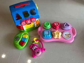 Assorted baby toys (musical toys and shape sorter, fisher price etc)