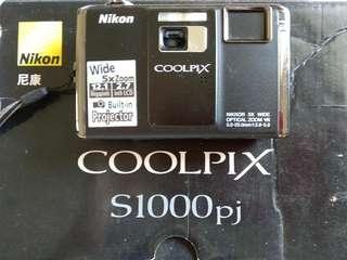 Nikon coolpix s1000pj camera dan projector