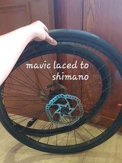 (clearance) lightweight 26er mavic laced to shimano deore wheelset