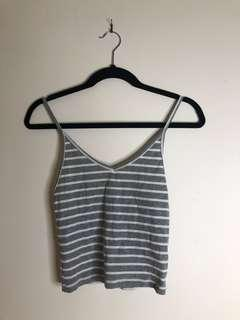 ALL ABOUT EVE Grey Striped Top