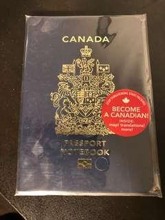 Canadian Passport Notebook