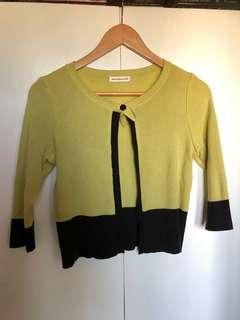 Apple Green Cropped Cardigan