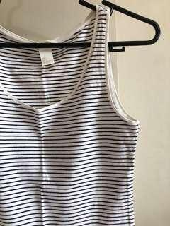Stripes H&M Basic Sleeveless Top
