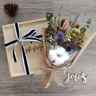 Rustic Dried Flower Bouquet with gift box
