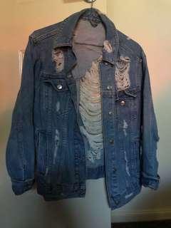 Top shop blue denim jacket