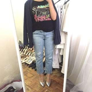 Fame Rock Chic Graphic Sequin Tshirt