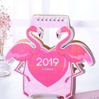 Flamingo 2019 calendar