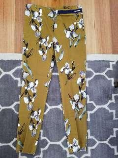 Zara printed trousers size M