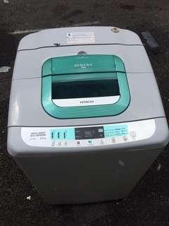 Washing Machine Automatically Hitachi 9.5kg Mesin Basuh Top Load Refurbished