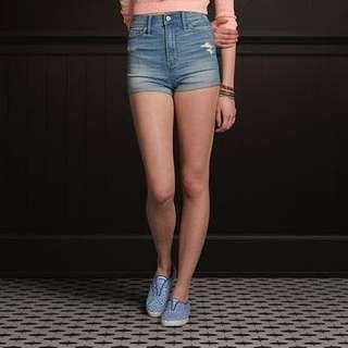Hollister destroyed natural (high) waist shorts