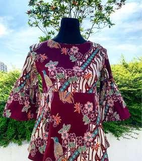 Batik Top (Bell Sleeves)