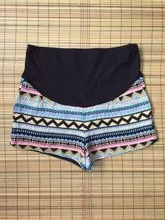 Maternity aztec shorts 34-35 inches hipline
