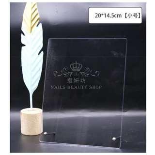 🚚 指妍坊💅【小號】新款日式高透美甲壓克力展示板展示架
