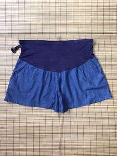 Maternity soft denim shorts 37-38 inches hipline