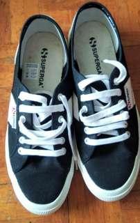 SuperGA Black & White Men's Shoes 黑白挷帶款 板鞋