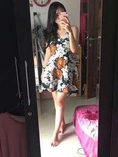 Dress floral bangkok (dress pantai)
