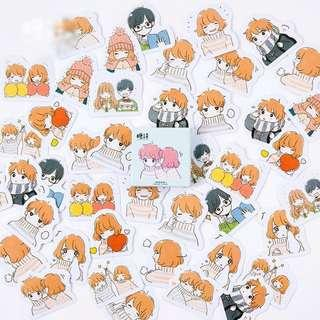 [✩po] bujo stickers girl and boy