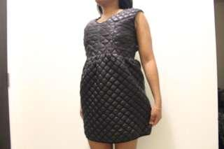 Quilted leather dress