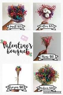 Valentine Day Frozen Flowers (Real flowers)