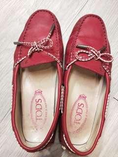 🚚 二手-桃紅Tod's 豆豆鞋