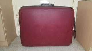80年代棗紅色 24吋旅行喼 旅行箱 古董 珍藏