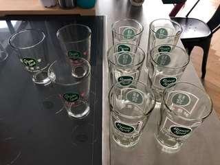 Green Spot Glasses