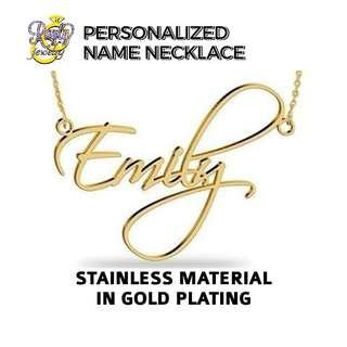 GoldPlated Stainless Name Necklace
