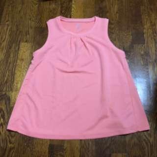 New Uniqlo girl kids pink sleeveless tee