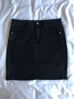 Insight black high waisted denim skirt