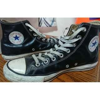🚚 Converse Chuck Taylor All Star 黑色 滑皮 亮皮 高筒 皮革 1Q547 US9