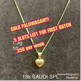 18k GOLD NECKLACE PALUWAGAN