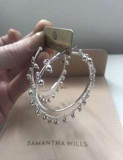 Samantha Wills silver nightfall hoop earrings