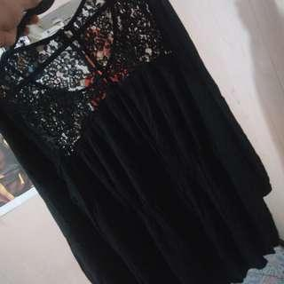 Forever 21 Little Black Lace Dress