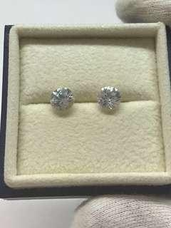 🚚 Natural White Zircons pair, 3.45 carats