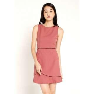 Abby Piping Dress (Pink)