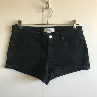 Forever 21 Black Denim Shorts (AU8/EU36)