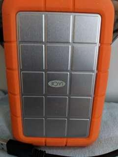1TB LaCie Rugged External Hard Disk
