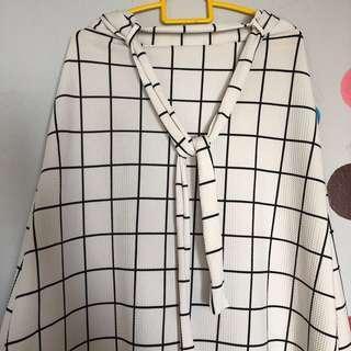 Grid Long Skirt