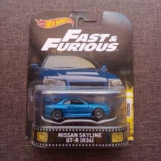 Nissan Skyline GT-R R34 (Retro: Fast and Furious [FNF])