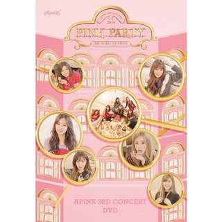 APINK 3RD CONCERT PINK PARTY DVD