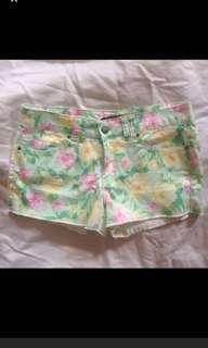 🚚 Brand new Forever 21 pastel green pink yellow floral shorts f21