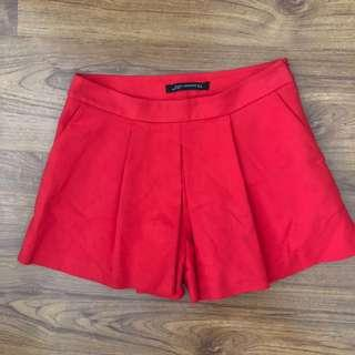 Zara Red Shorts
