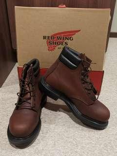 Red wing safety shoes boots us 6