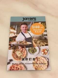 Jamie's Italian $100 voucher