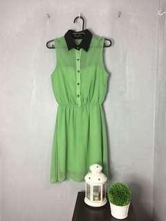 People R People Green Sheer Dress