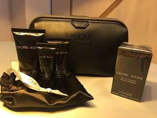 Limited edition Lalique male toiletry bag by Singapore Airlines