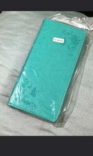 🚚 Samsung Note 8 Tiffany blue faux leather flip case cover