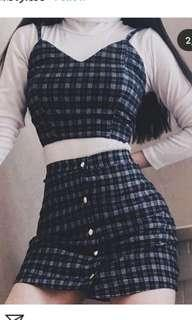 Looking for the checkered plaid top and skirt