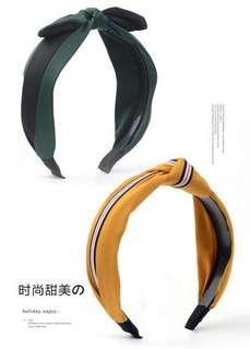 🚚 韓國簡約淑女髮箍 韓國甜美氣質打結復古髮箍 大蝴蝶結氣質髮箍